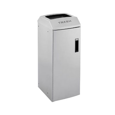 Rubbermaid 3486037 21-gal Multiple Material Recycle Bin - Indoor, Multiple Sections & Decorative