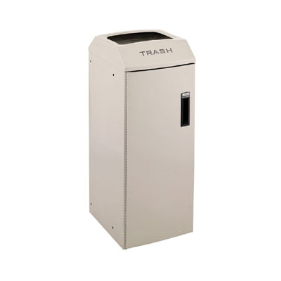 Rubbermaid 3486043 21-gal Multiple Material Recycle Bin - Indoor, Multiple Sections & Decorative