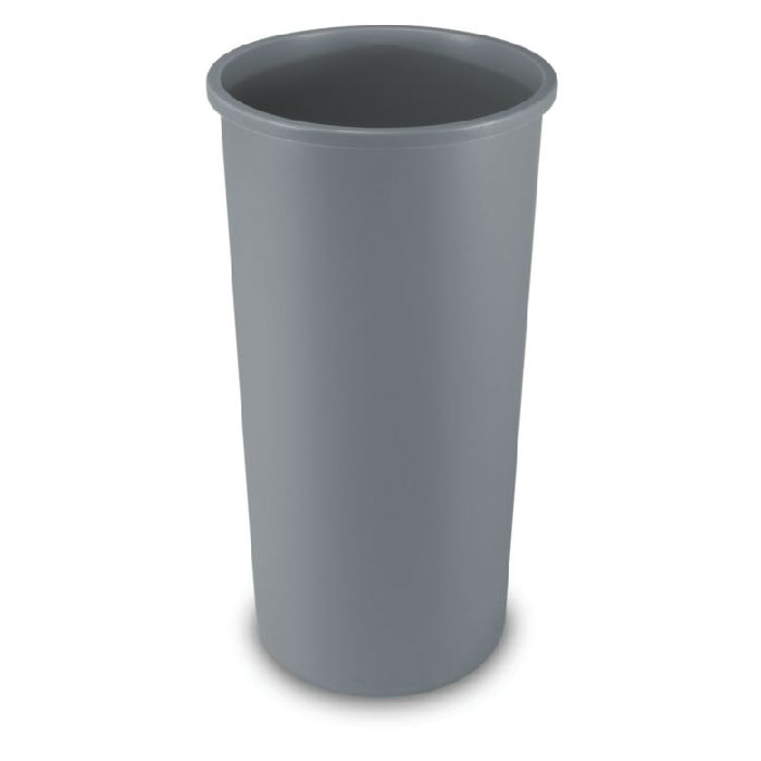 Rubbermaid FG354600GRAY 22-gallon Commercial Trash Can - Plastic, Round