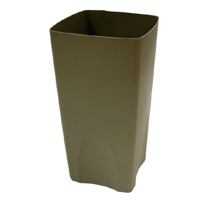 Rubbermaid FG356300BEIG 19-gal Square Rigid Trash Can Liner, Plastic - Beige
