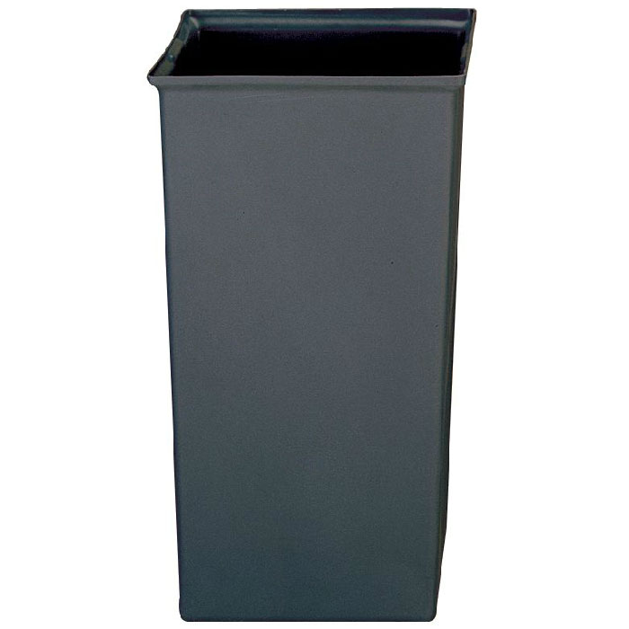 Rubbermaid FG356600 GRAY 24.66-gal Square Rigid Trash Can Liner, Plastic - Gray
