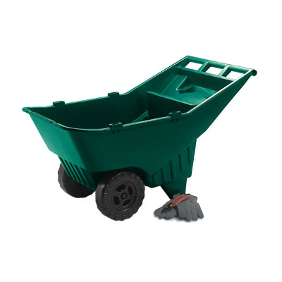 Rubbermaid FG370612714 .17-cu yd Trash Cart w/ 200-lb Capacity, Green
