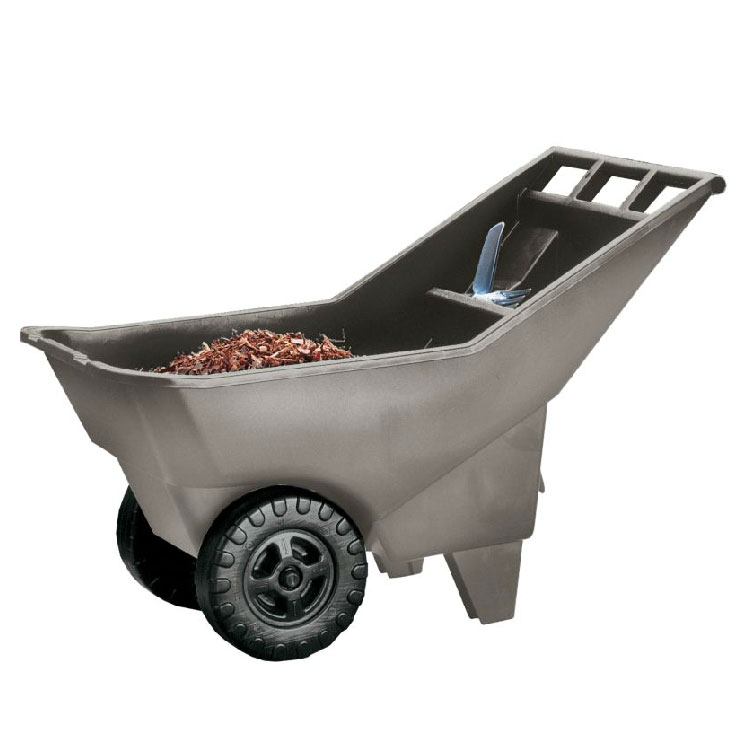 Rubbermaid FG370712907 Roughneck Lawn Cart Pallet - 3.25 cu ft, High-Impact Plastic, Platinum