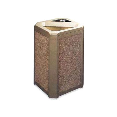"Rubbermaid FG396600DWOOD 20-gal Landmark Series Container - 21x21x30-1/2"" Ash/Trash Frame, Drift Wood"