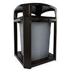 "Rubbermaid FG397000 BLA 35-gal Landmark Series Container - 26x26x40"" Dome Top Frame, Black"