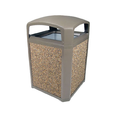 "Rubbermaid FG397000DWOOD 35-gal Landmark Series Container - 26x26x40"" Dome Top Frame, Drift Wood"