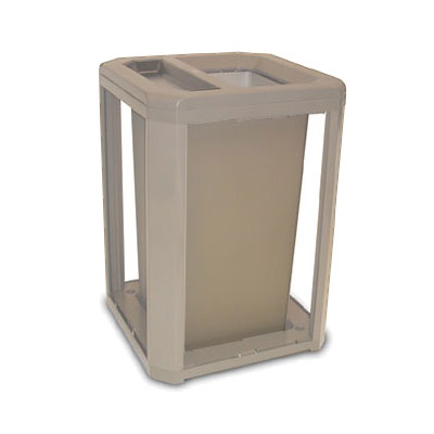 Rubbermaid FG397100DWOOD Trash Can Top Cigarette Receptacle - Outdoor Rated