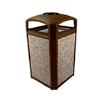 Rubbermaid FG397501 SBLE Trash Can Top Cigarette Receptacle - Outdoor Rated