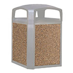 Rubbermaid FG400400 ROCK Trash Container Panel - 50-gal Landmark Series, River Rock