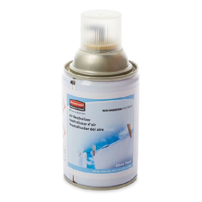 Rubbermaid FG4009831 Aerosol Air Neutralizer Refill - Linen Fresh