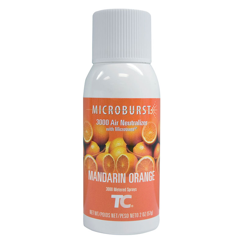 Rubbermaid FG402408 MicroBurst 3000 Air Neutralizer Refill - Mandarin Orange