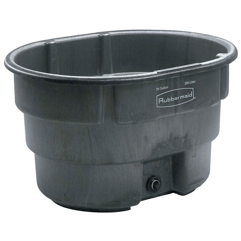 Rubbermaid FG424400 BLA 70-gal Stock Tank - Structural Foam, Black