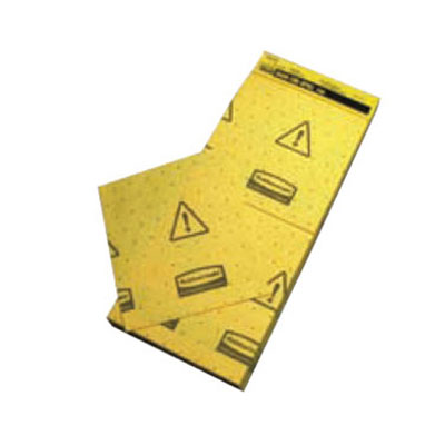 "Rubbermaid FG425500 YEL Over-the-Spill Station Pads - 16-1/2x7"" Yellow"
