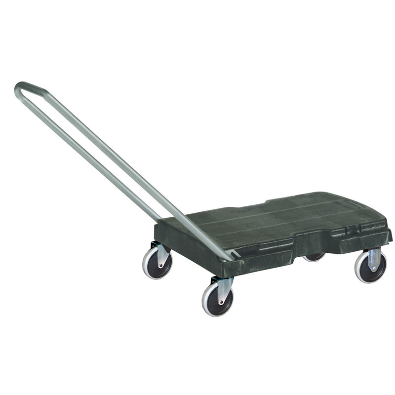 "Rubbermaid FG440120 BLA Triple Trolley - Standard Duty, 32.5x20.5"" 500-lb Capacity, Black"
