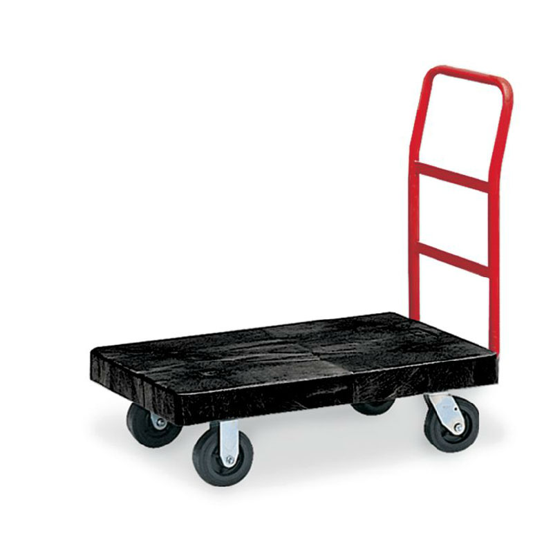 "Rubbermaid FG444100BLA Platform Truck - Heavy Duty, 24x48"" 2000-lb Capacity, Resin/Metal, Black"