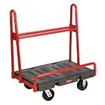 "Rubbermaid FG446200BLA A-Frame Panel Truck - 24x36"" 2000-lb Capacity, 6"" Castors, Black"