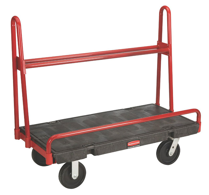 "Rubbermaid FG446300BLA A-Frame Panel Truck - 24x36"" 2000-lb Capacity, 8"" Castors, Black"