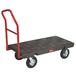 "Rubbermaid FG446610BLA Platform Truck - Heavy Duty, 30x60"" 1000-lb Capacity, 8"" Castors, Black"