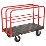 "Rubbermaid FG446800BLA Sheet and Panel Truck - 24x48"" 2000-lb Capacity, 8"" Castors, Black"