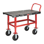 "Rubbermaid FG447300BLA Work-Height Platform Truck - 24x48"" 2000-lb Capacity, 8"" Castors, Black"