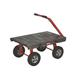 "Rubbermaid FG447700BLA 5th Wheel Wagon Truck - 24x48"" 2000-lb Capacity, 12"" Castors/Wheels, Black"
