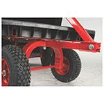 """Rubbermaid FG447700BLA 2000-lb Platform Truck w/ Tie Downs, 48""""L x 24""""W"""