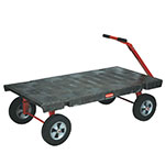 "Rubbermaid FG448000BLA 5th Wheel Wagon Truck - 30x60"" 2000-lb Capacity, 12"" TPR Castors/Wheels, Black"
