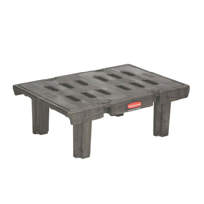 "Rubbermaid FG448900BLA Dunnage Rack - 24x36x12"" 1500-lb Capacity, Black"