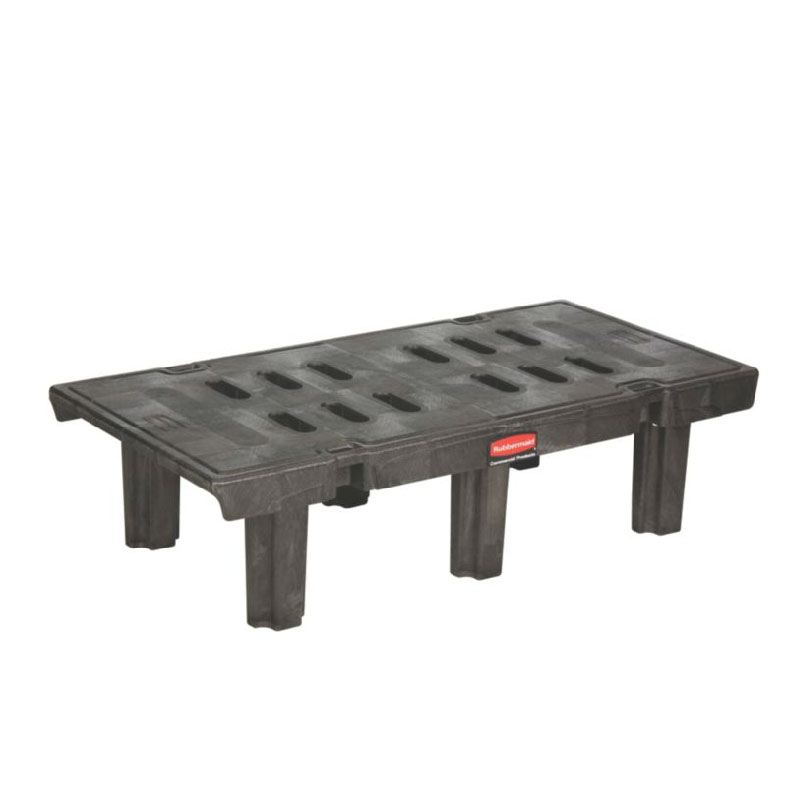 "Rubbermaid FG449000BLA Dunnage Rack - 24x48x12"" 2000-lb Capacity, Black"