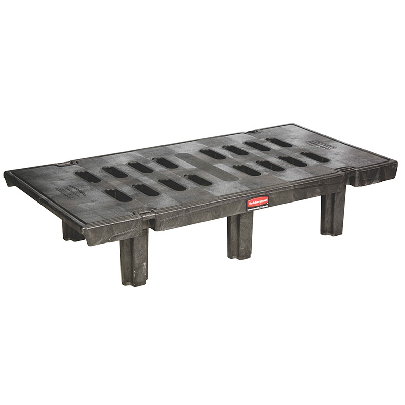 "Rubbermaid FG449100BLA Dunnage Rack - 30x60x12"" 2000-lb Capacity, Black"