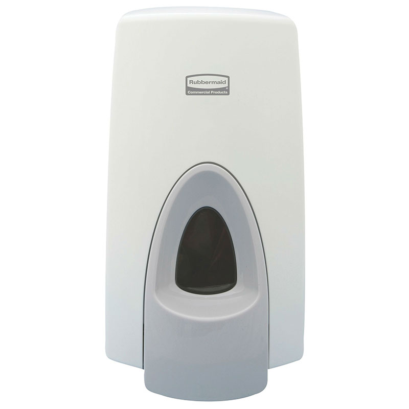 Rubbermaid FG450017 Foam Skin Care Dispenser - Wall-Mount, 800/1000-ml, White