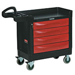 "Rubbermaid FG451388 BLA TradeMaster Mobile Cabinet - 4-Drawer, 500-lb Capacity, 5"" Castors, Black"