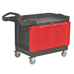 "Rubbermaid FG453288BLA TradeMaster Mobile Cabinet - 2-Door, 750-lb Capacity, 5"" Castors, Black"