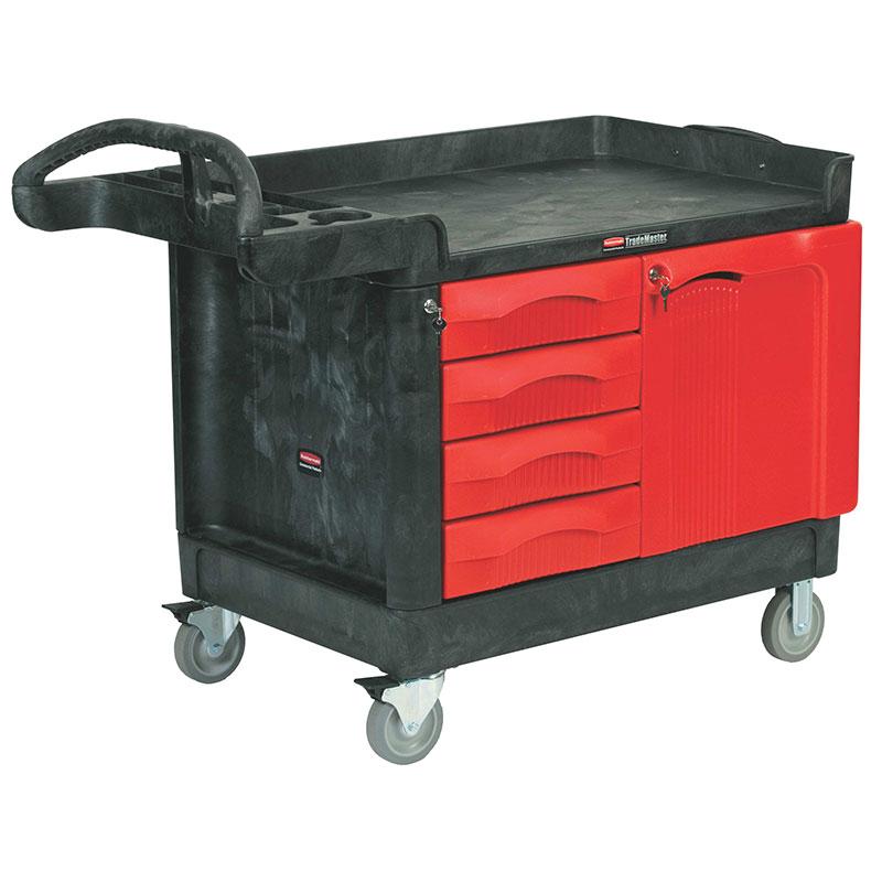Rubbermaid FG453388 BLA Maintenance Cart w/ 750-lb Capacity, Black