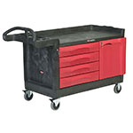 Rubbermaid FG454888 BLA Maintenance Cart w/ 750-lb Capacity, Black