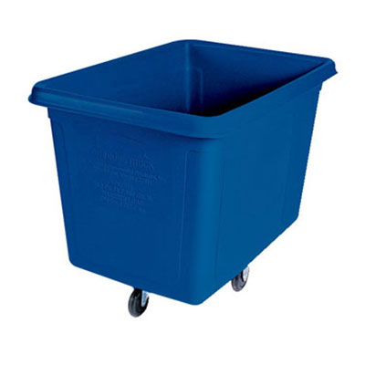 Rubbermaid FG460800DBLUE Cube Truck - 8 cu ft, 300-lb Capacity, Dark Blue