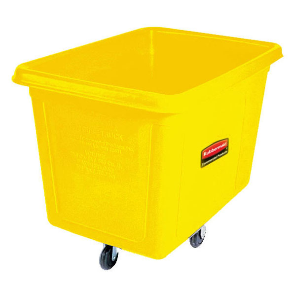 Rubbermaid FG460800YEL Cube Truck - 8 cu ft, 300-lb Capacity, Yellow