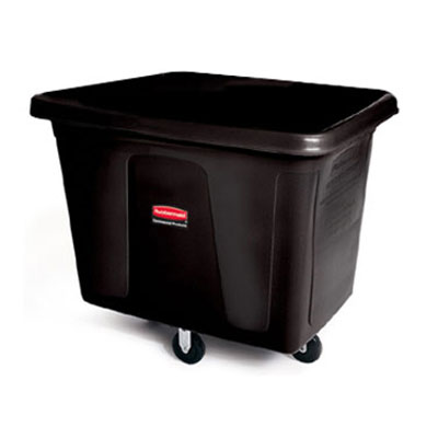 Rubbermaid FG461200 BLA .4-cu yd Trash Cart w/ 400-lb Capacity, Black