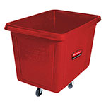 Rubbermaid FG461200RED Cube Truck - 12 cu ft, 400-lb Capacity, Red
