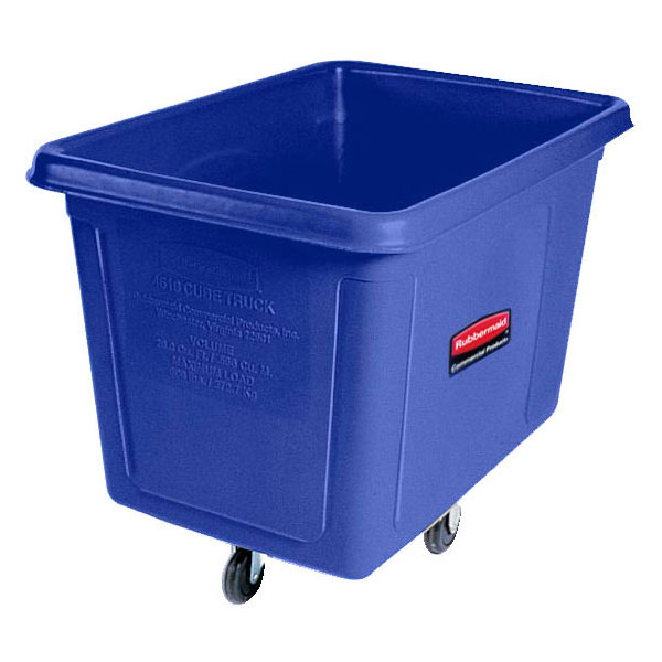 Rubbermaid FG461400BLUE .5-cu yd Trash Cart w/ 500-lb Capacity, Blue