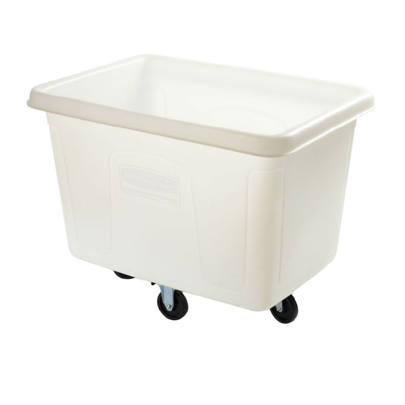 Rubbermaid FG461400 WHT Cube Truck - 14 cu ft, 400-lb Capacity, White
