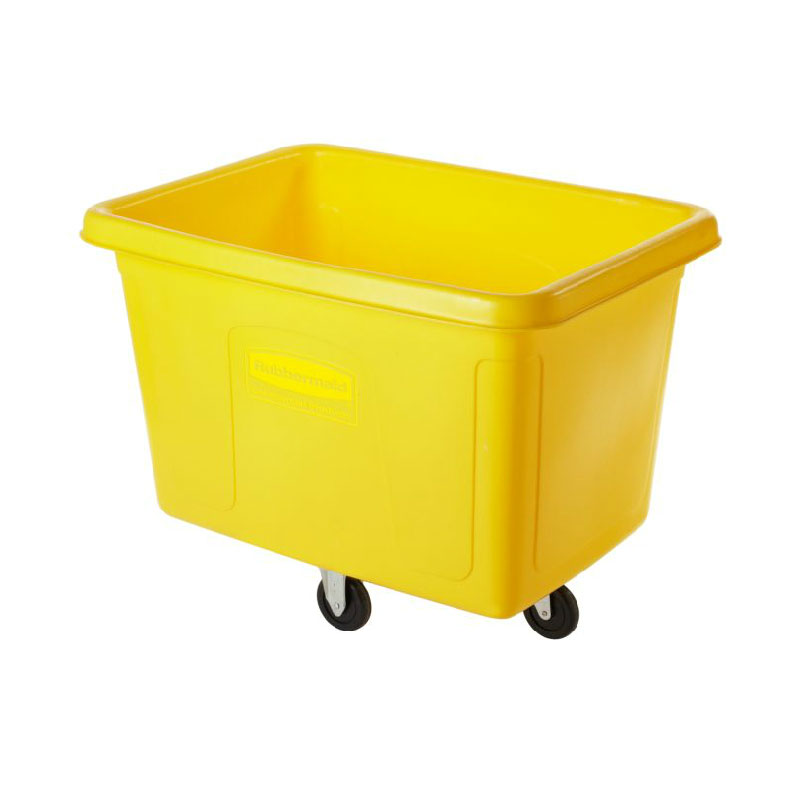 Rubbermaid FG461400YEL Cube Truck - 14 cu ft, 400-lb Capacity, Yellow