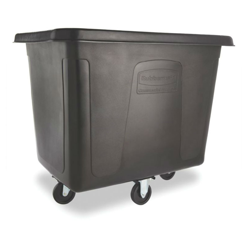 Rubbermaid FG461600 BLA Cube Truck - 16 cu ft, 400-lb Capacity, Black
