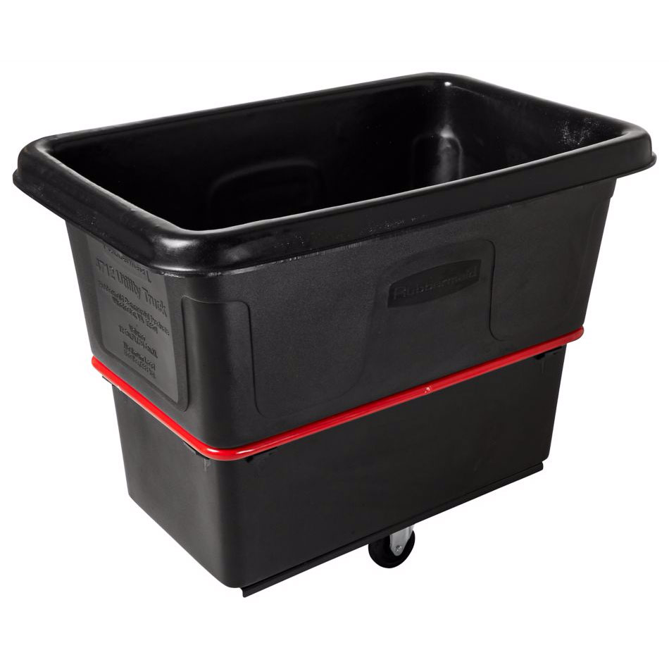 Rubbermaid FG471600 BLA .6-cu yd Trash Cart w/ 1000-lb Capacity, Black