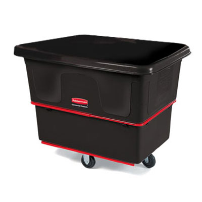 "Rubbermaid FG472000 BLA Utility Truck - 20 cu ft, 1200-lb Capacity, 5"" Castors, Black"