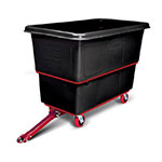 Rubbermaid FG472741 BLA 1-cu yd Trash Cart w/ 1200-lb Capacity, Black