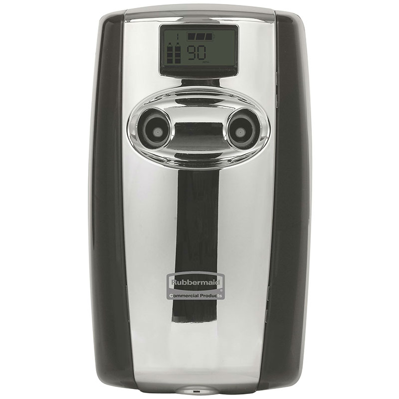 Rubbermaid FG4870055 Microburst Duet Odor Control Dispenser - Black/Chrome