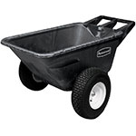 Rubbermaid FG564210 BLA Big Wheel Cart - 7-1/2 cu ft Capacity, Black