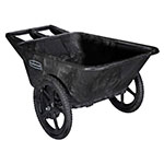 Rubbermaid FG564261 BLA .28-cu yd Trash Cart w/ 300-lb Capacity, Black