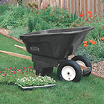Rubbermaid FG565961 BLA .24-cu yd Trash Cart w/ 200-lb Capacity, Black